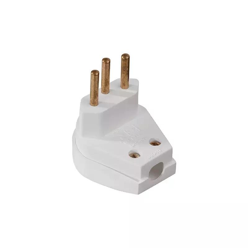 Plug Macho 2P+T 20A Forte Branco - Ref.39183 - MECTRONIC