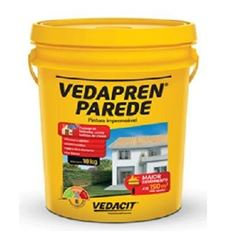 Impermeabilizante Acrílico 18kg Vedapren Parede Branco - Ref.112551 - VEDACIT