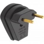 Plug Macho 2P 10A Forte Preto - Ref.39041 - MECTRONIC