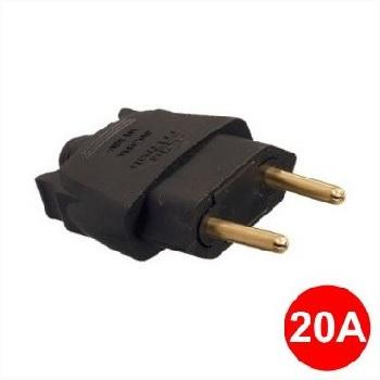 Plug Macho 2P 20A 180g Preto - Ref.39223 - MECTRONIC