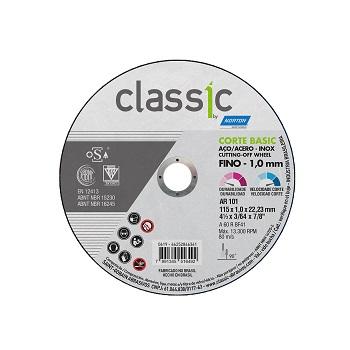 Disco Corte 41/2x3/64 Inox AR101 Classic - Ref.66252846361 - NORTON