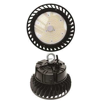 Luminária Industrial LED High Bay 100W Preto com Cúpula 6500K - DI69257 - DILUX