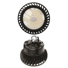 Luminária Industrial LED High Bay 100W Preto com Cúpula 6500K - DI69257 - DILUX