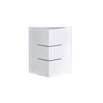 Arandela em Alumínio Madri Triangular 2 Frisos Branco - Ref. 1465 BR - ATTENA