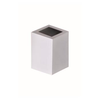 Arandela Alumínio Baliza 1 Visor Quadrada Branca - Ref. 1474 BR - ATTENA