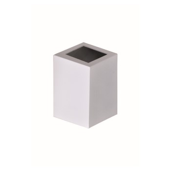Arandela em Alumínio 1 Visor Quadrado Baliza Branca - Ref. 1474 BR - ATTENA