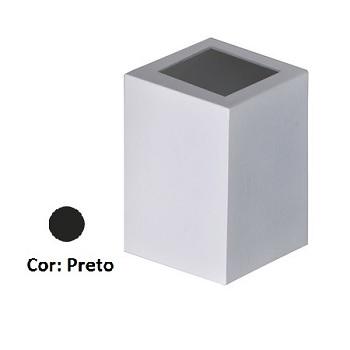 Arandela Alumínio Baliza 2 Visores Quadrada Preto - Ref. 1475 PT - ATTENA