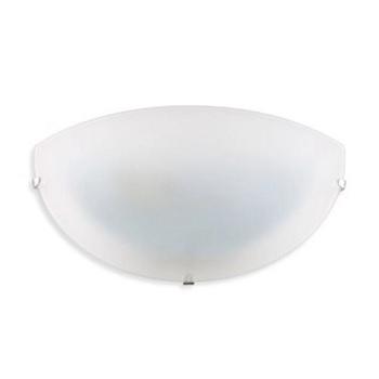 Arandela de Vidro Meia Lua E27 Fosca Branca - Ref.1802/AR BR - ATTENA