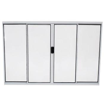 Janela de Alumínio 4 Folhas Vidro Reflex 150x100cm Branco - Ref.ELB014004 - QUALITY