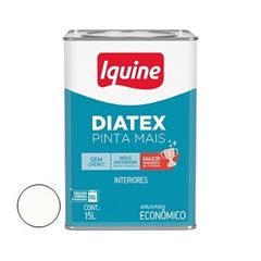 Tinta Vinil Acrílica 15 Litros Diatex Branco Neve - Ref.50300254 - IQUINE