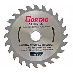 Disco Serra 24 Dentes 110mm Madeira - Ref.60864 - CORTAG