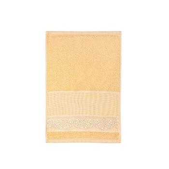 Toalha de Lavabo de Pintar e Bordar Luara Amarelo - Ref.SPINTJLBJLUA1071 - SANTISTA