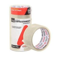 Fita Empacotamento 45mmx40m 710 Uso Geral Transparente - Ref.11053230162 - ADERE