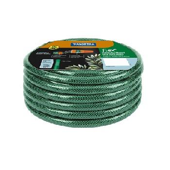 MANGUEIRA PVC 6M 3 CAMADAS FLEX VERDE COM ENGATE - REF.79172060 - TRAMONTINA
