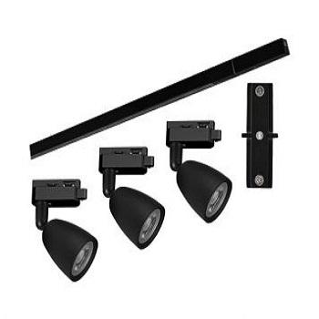 Kit Trilho Spots LED Direct 6500K Preto - Ref.15090233 - TASCHIBRA