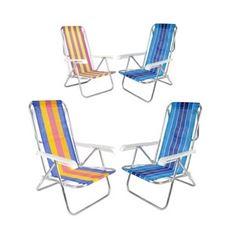 Cadeira de Praia em Alumínio 8 Posições Reclinável Cores - Ref. 25100 - BELFIX