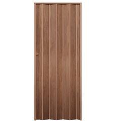 Porta Sanfonada de PVC 70x210cm Wood Castanho - Ref.05081602 - ARAFORROS