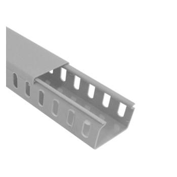 Canaleta PVC 20x20mm 2m Semiaberta Cinza - Ref.19093- ILUMI