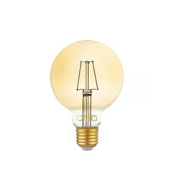 Lâmpada Led 2,5W Bivolt Ballon G95 Filamento Vintage E27 Âmbar - Ref. 438633 - BRILIA