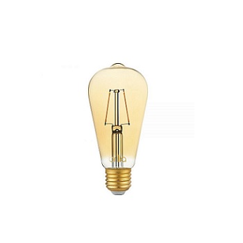Lâmpada Led 2,5W Bibvolt ST64 Filamento Vintage E27 Âmbar - Ref. 438640 - BRILIA