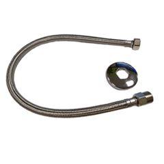 Tubo de Ligação em Inox 60cm Flex Trançado Cromado - Ref.TH104-60 - DIMAR