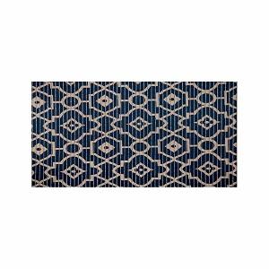Tapete PVC 43X15m Tropical Arabesco Azul e Bege - Ref.0201ARABES - KAPAZI