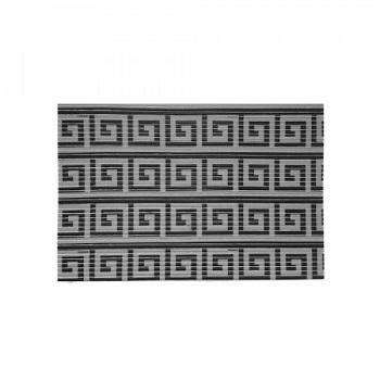 Tapete PVC 43x15m Tropical Labirinto Preto - Ref.0201LMLAB - KAPAZI