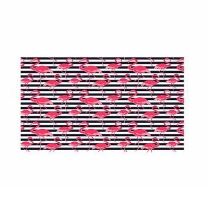 Tapete PVC 43x15m Tropical Flamingo Azul - Ref.0201FLAZ - KAPAZI
