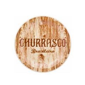 Prato Raso 26cm Churrasco Brasileiro Floreal Yellow - Ref:.061586 - OXFORD