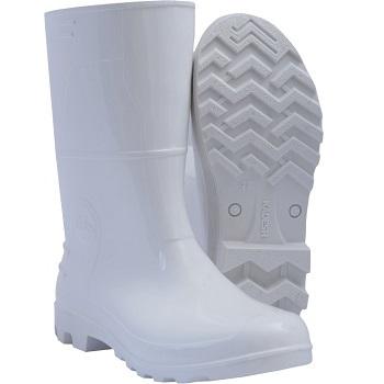 Bota PVC 37 Cano Médio Branca - Ref.315337 - KADESH