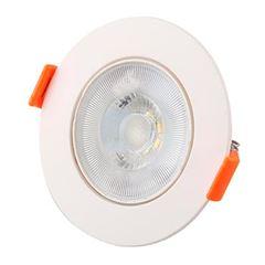 Spot LED 3W Bivolt de Embutir Redondo 3000K - Ref. DI70444 - DILUX