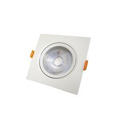 Spot LED 3W Bivolt de Embutir Quadrado 6500K - Ref. DI70475 - DILUX