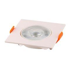 Spot LED 5W Bivolt de Embutir Quadrado 3000K - Ref. DI70505 - DILUX
