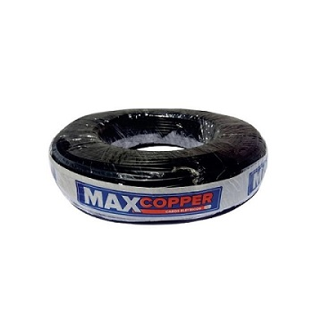 Cabos Flexível 2,5mm 100m 750v Preto - Ref.456315189 - MAXCOPPER
