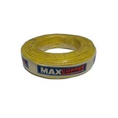 Cabo Flexível 6mm 100m 750v Amarelo - Ref.456315322 - MAXCOPPER