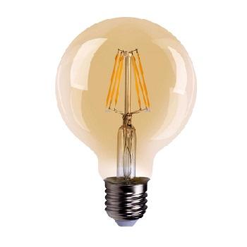Lâmpada LED Filamento Globo 8w Bivolt G95 2200K Âmbar - Ref.DI70697 - DILUX