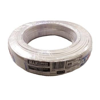 Cordão Paralelo 2x0,75mm 100m Branco - Ref.456315436 - MAXCOPPER