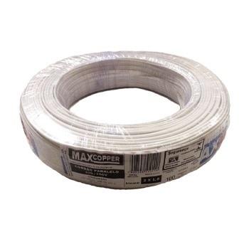 Cordão Paralelo 2x1,00mm 100m Branco - Ref.456315439 - MAXCOPPER