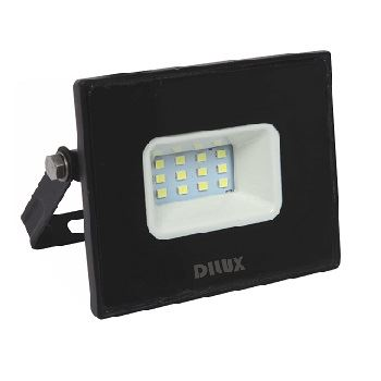 Refletor LED Ultra Slim 10W Bivolt 6500K Preto - Ref. DI70734 - DILUX