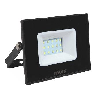 Refletor LED Ultra Slim 20W Bivolt Branco Frio 6500K Preto - Ref. DI70819 - DILUX