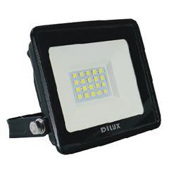 Refletor LED Ultra Slim 20W Bivolt 6500K Preto - Ref. DI70819 - DILUX
