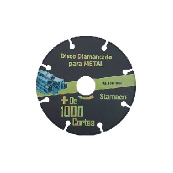 Disco de Corte 115mm 1000 Metal - Ref.6381 - STAMACO