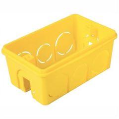 Caixa de Embutir 4x2 Retangular Amarelo - Ref. 57500041 - TRAMONTINA