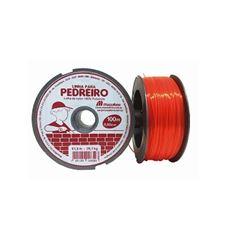 Linha de Nylon 0,80mmx100m para Pedreiro Laranja - Ref. 19DP1LP80 - MAZZAFERRO