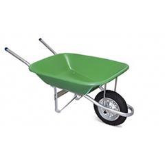 Carro de Mão em Aço com Caçamba de Plástico Completo Verde - Ref. 00126 - METALOSA