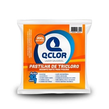 Pastilha para Tratamento de Piscina Saco 200G Tricolo - REF.PA010075 - QCLORO