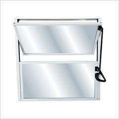 Basculante Alumíio 40X40 1 Seção Soft Vidro Mini Boreal Branco - Ref.3124 - MGM