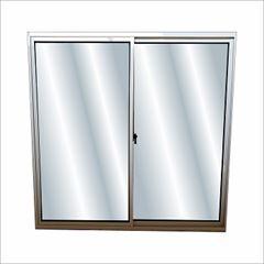 Janela de Correr de Alumínio  2 Folhas Vidro Liso 100x80cm Fênix Branco - Ref.37091 - MGM