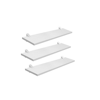 Kit Prateleira 3 Peças Concept com Suporte Branco - Ref.08850.200 - PRAT-K