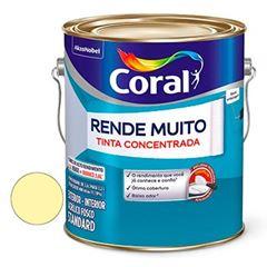 Tinta Acrílica Fosca Rende Muito Amarelo Vanila 3,6 Litros - Ref. 5202188 - CORAL